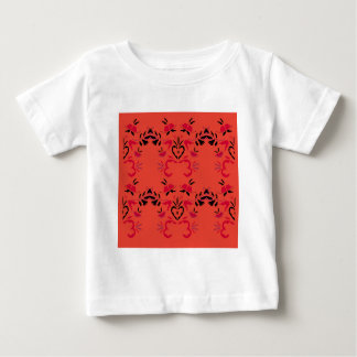 Camiseta Para Bebê Os povos maravilhosos projetam a laranja