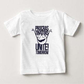 Camiseta Para Bebê os procrastinadores unem-se amanhã
