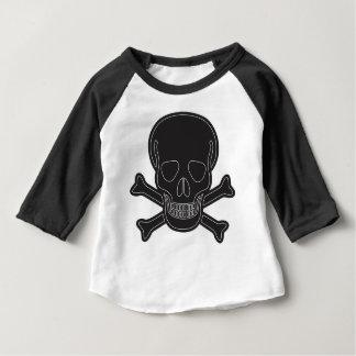 Camiseta Para Bebê ossos maus pretos grandes
