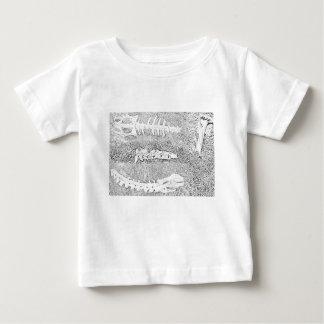 Camiseta Para Bebê Ossos que colorem a coloração adulta do projeto