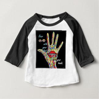 Camiseta Para Bebê Ouça com seus olhos