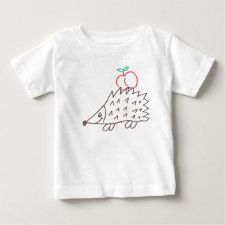 Camiseta Para Bebê Ouriço doce bebé Shirt com maçã