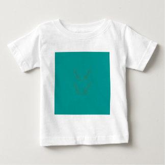 Camiseta Para Bebê Ouro dos elementos do design ciano