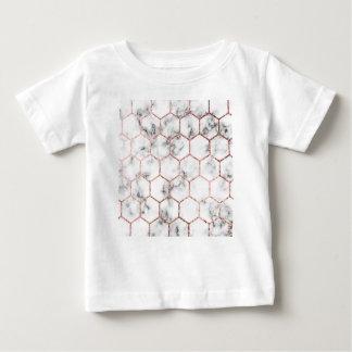 Camiseta Para Bebê Ouro, geometria, mármore, teste padrão, moderno,