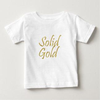 Camiseta Para Bebê Ouro maciço