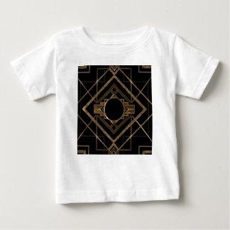 Camiseta Para Bebê ouro, preto, art deco, metálico, teste padrão,