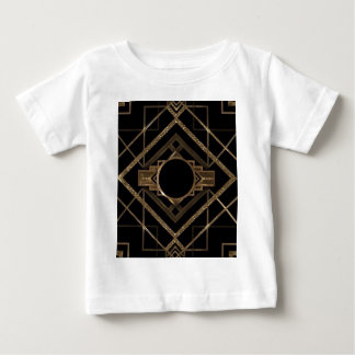 Camiseta Para Bebê ouro, preto, art deco, nouveau, vintage, elegante