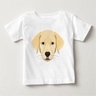 Camiseta Para Bebê Ouro Retriver do filhote de cachorro da ilustração