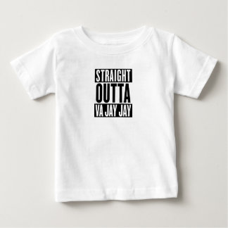 Camiseta Para Bebê Outta reto Va jay jay engraçado