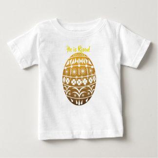 Camiseta Para Bebê Ovo da páscoa do ouro