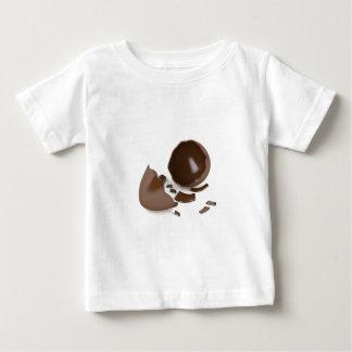 Camiseta Para Bebê Ovo de chocolate quebrado