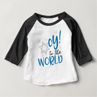 Camiseta Para Bebê Oy ao mundo