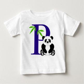 Camiseta Para Bebê P é para a panda