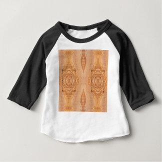 Camiseta Para Bebê Padrões de superfície de madeira verde-oliva da