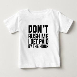 Camiseta Para Bebê Pago à hora