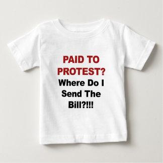 Camiseta Para Bebê Pago para protestar? De onde eu envio o Bill?