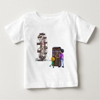 Camiseta Para Bebê Pai e filho prontos para montar uma roda de Ferris