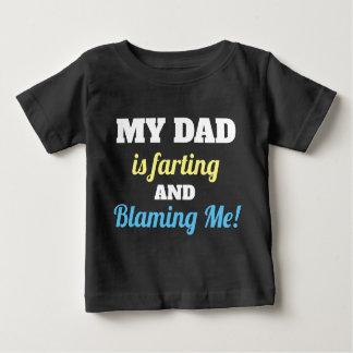 Camiseta Para Bebê Pai engraçado que Farting e que responsabiliza me