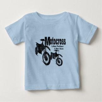 Camiseta Para Bebê Pai/filho do motocross
