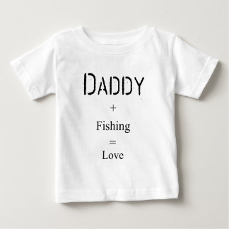Camiseta Para Bebê Pai + Pesca = amor