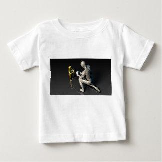Camiseta Para Bebê Pai que dá a sabedoria a seu criança ou filho