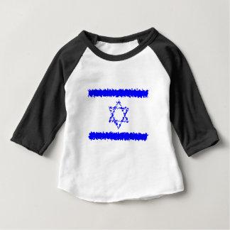 Camiseta Para Bebê País do azul de Israel das bandeiras