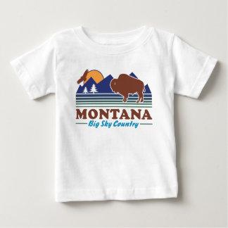 Camiseta Para Bebê País grande do céu de Montana