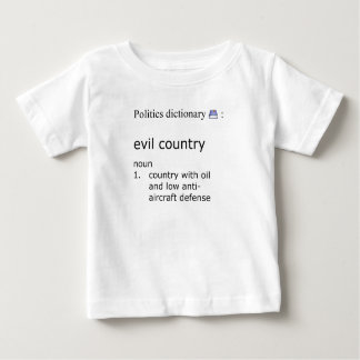 Camiseta Para Bebê País mau