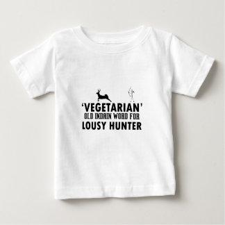Camiseta Para Bebê Palavra indiana velha do vegetariano para o