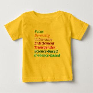 Camiseta Para Bebê Palavras baseados em ciência e outras proibidas