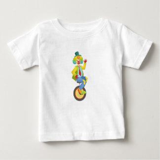 Camiseta Para Bebê Palhaço amigável colorido com a peruca do
