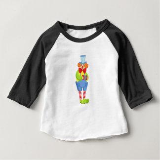 Camiseta Para Bebê Palhaço amigável colorido com acordeão diminuto