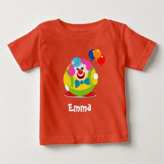 Camiseta Para Bebê Palhaço de circo bonito dos desenhos animados do