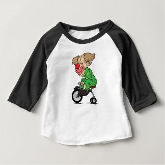 Camiseta Para Bebê Palhaço no triciclo