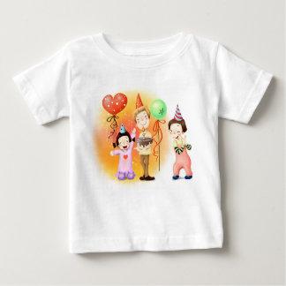 Camiseta Para Bebê Palhaços coloridos