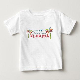 Camiseta Para Bebê Palmas artísticas de Daytona Beach Florida