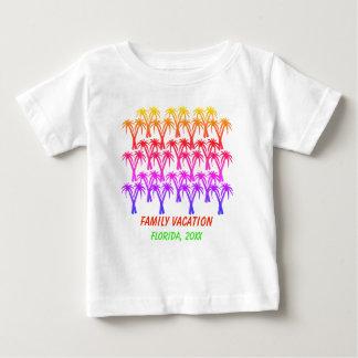 Camiseta Para Bebê Palmeiras das férias em família