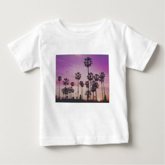 Camiseta Para Bebê Palmeiras tropicais Miami Los Angeles Veneza