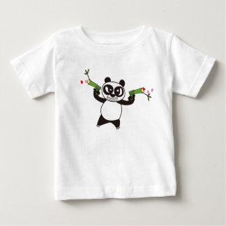 Camiseta Para Bebê Panda irritada 28 da cara