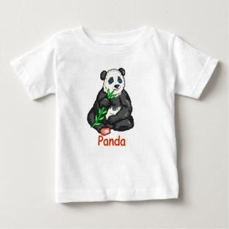Camiseta Para Bebê Panda que come o bastão