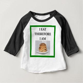 Camiseta Para Bebê panquecas