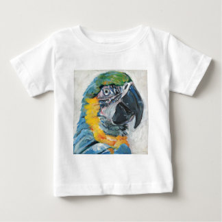 Camiseta Para Bebê Papagaio azul