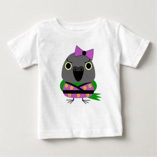 Camiseta Para Bebê papagaio de Senegal do ネズミガシラハネナガインコオウム no quimono