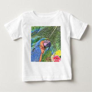 Camiseta Para Bebê Papagaio do Ara