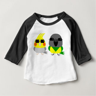 Camiseta Para Bebê papagaio do Cockatiel & do Senegal do オカメインコオウム