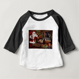 Camiseta Para Bebê Papai noel áspero