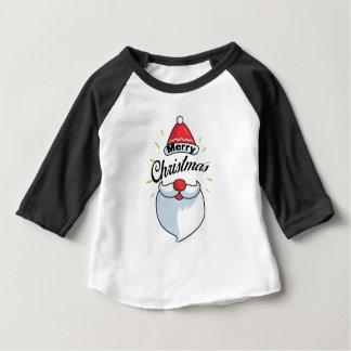 Camiseta Para Bebê Papai noel bonito