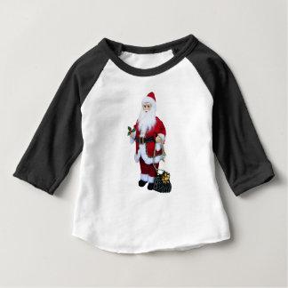 Camiseta Para Bebê Papai Noel com saco