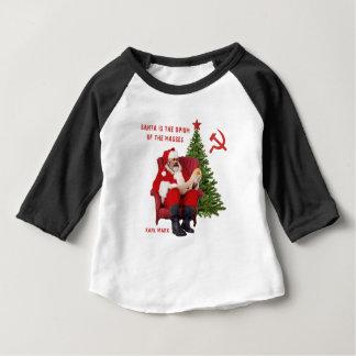 Camiseta Para Bebê Papai noel de Karl Marx