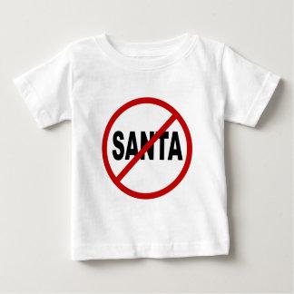 Camiseta Para Bebê Papai noel do ódio Santa/No permitido a indicação